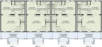 multi level home floor plans 4 unit multi family home plan 60559nd architectural designs