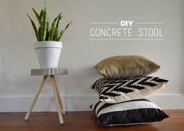 diy concrete stool dandylione