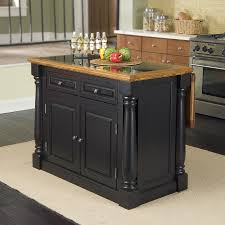 black kitchen islands shop home styles black midcentury kitchen islands at lowes