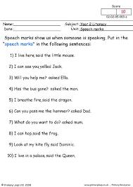 Quotation Marks Worksheet Primaryleap Co Uk Speech Marks 2 Worksheet Teaching
