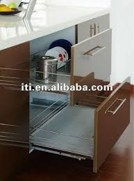 Pull Out Baskets For Kitchen Cabinets by Kitchen Cabinet Soft Close Wooden Pull Out Basket Drawer Organizer
