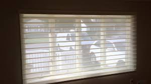 powerview silhouette hunter douglas 4 inch vane youtube