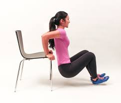 arm exercise the triceps chair dips personal trainer malta