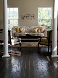 modern living room with black hardwood flooring designs modern