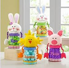 personalized easter easter treat jars