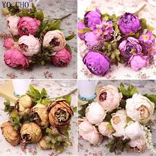 silk flower bouquets artificial peony bouquet wedding decoration artificial peonies