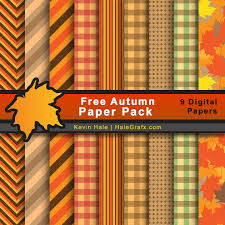 fall autumn digital paper pack