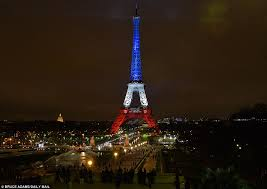 eiffel tower light show the eiffel tower is lit up with the tricolore as it reopens after