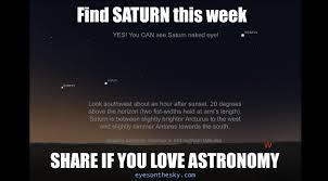 Saturn Meme - eyes on the sky blog