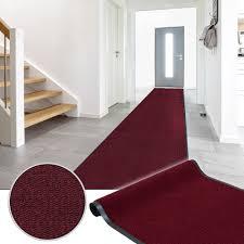 Non Slip Mat For Laminate Flooring Dirt Barrier Runner Rug Hard Wearing Non Slip Mat Red Basic Clean 90cm