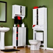 Bathroom Hutch Over Toilet Bathroom Cabinets Over Commode Storage Behind Toilet Storage