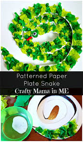 how to make a patterned paper plate snake crafty mama in me