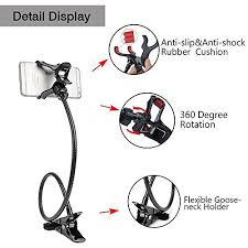 car smartphone mount and gooseneck phone holder with long arms for
