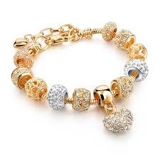 bracelet gold love images Love charm beads bracelet gold tone jpg
