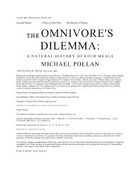 jm lexus guest bill of rights the omnivore s dilemma