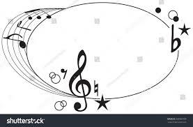 ornament musical symbols graphic design vector stock vector