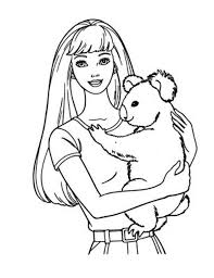 barbie coloring pages koala coloringstar