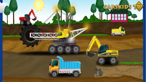 diggers trucks lorry excavator heavy vehicles big trucks for kids
