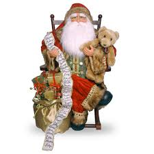 national tree company 31 in plush collection santa on rocking