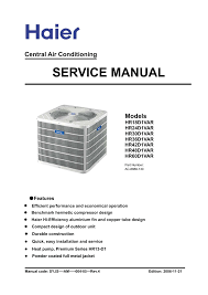 hp central air conditioning service manual manualsheaven net