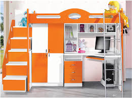 mdf panels children kids bunk bed with stairs and drawer colour