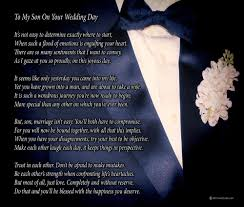wedding day card for groom to my on your wedding day one parent poem