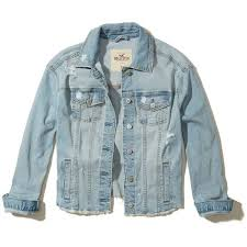 light distressed denim jacket hollister oversized denim jacket 3 530 rub via polyvore featuring
