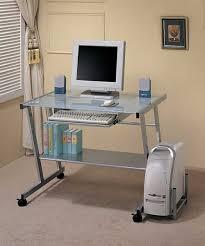 Diy Metal Desk by Tables High Gloss Top Silver Metal Computer Diy Desks Idea Amazing