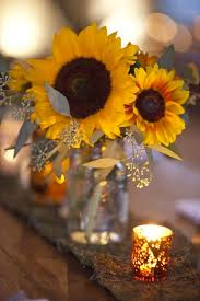 sunflower centerpieces 50 vibrant and fall wedding centerpieces deer pearl flowers