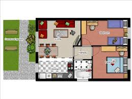 Two Bedroom House Plans by 2 Bedroom Bungalow Floor Plan Click The Floorplan To Enlarge