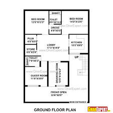 square feet to gaj house plan for 35 feet by 48 feet plot plot size 187 square yards