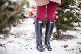 choosing a christmas tree duffle coat hunter boots color u0026 chic
