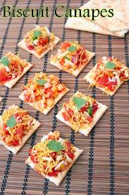 how to canapes recipe of biscuit canapes canapes salad and recipes