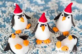 Make Christmas Cake Decorations Out Icing by Fondant Penguins Roxy U0027s Kitchen