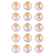 cinderella cupcake toppers themed cup cake toppers cake decorating items product