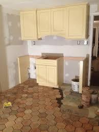 Terracotta Floor Tile Kitchen - hexagonal reclaimed french terracotta flooring vintage elements