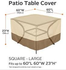 Large Patio Furniture Cover by Amazon Com Classic Accessories Veranda Square Patio Table Cover