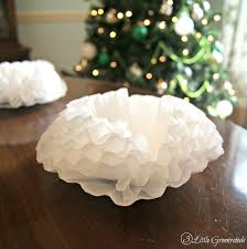 inexpensive holiday ornaments coffee filter chandelier