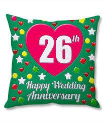 26th wedding anniversary photogiftsindia 26th wedding anniversary cushion cover buy
