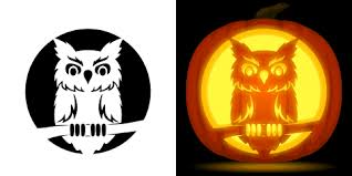owl pumpkin carving stencil free pdf pattern download