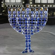 amazon com northlight led lighted menorah hanukkah yard art