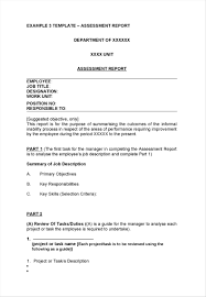productivity report template 30 sample hr templates and examples assessment report template