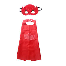 kids superhero pj masks cape mask owlette catboy cosplay