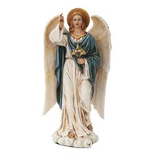 Angels Home Decor by Archangel Gabriel Full Color Resin Christian Angel Statue