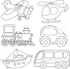transportation coloring pages and activity worksheets suitable for