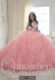 quinceanera pink dresses quince 26848 strapeless beaded dress