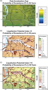 Map Of Memphis Tennessee by Probabilistic Liquefaction Hazard Maps For Memphis Tennessee