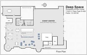 Banquet Hall Floor Plan by Event Center Deep Space Gallery Event Center