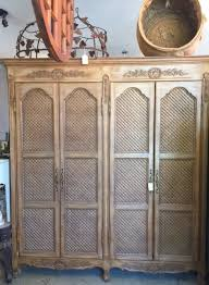 French Provincial Armoire French Provincial Cane Chair Inretrospec