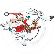 cosmopolitan clipart cartoon santa kangaroo by ron leishman toon vectors eps 9966